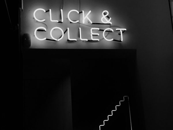 ppc click and connect sign neon