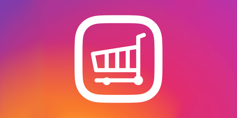 cart within the instagram logo